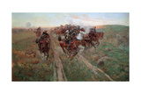 Scene from the Battle of Kuryuk-Dara in July 1854, 1900 Giclee Print by Franz Roubaud
