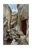 The Conquered Trenches of Perthes, Champagne, France, October 1915 Giclee Print by Francois Flameng