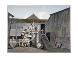 Coade Stone Factory Yard on Narrow Wall Street, Lambeth, London, C1800 Giclee Print by George Shepherd