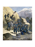 Alpine Chasseurs, 1891 Giclee Print by F Meaulle