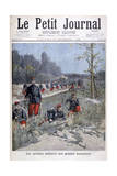 French Bicycle Corp on Military Maneuvers, 1896 Giclee Print by Henri Meyer