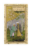 Saadi in a Rose Garden, 1645 Giclee Print by  Govardhan
