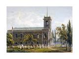 Church of St Matthew, Bethnal Green, London, 1817 Giclee Print by George Shepherd