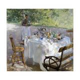 Breakfast Time, 1887 Giclée-tryk af Hanna Pauli
