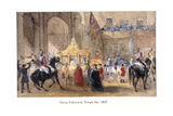 Queen Victoria at Temple Bar, London, 1837 Giclee Print by Henry Warren