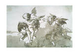 Cupids with Doves and a Torch, 17th Centruy Giclee Print by Giovanni Battista Tiepolo