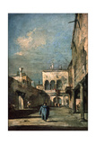 Venetian Courtyard, 1770s Giclee Print by Francesco Guardi