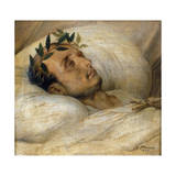 Napoleon on His Deathbed, May 1821 Giclee Print by Horace Vernet