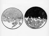 Sketch of the Moon by Galileo Galilei, C1635 Wydruk giclee autor Galileo Galilei