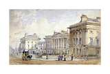 View of Clarence Terrace in Regent's Park, London, 1827 Giclee Print by George Shepherd