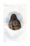 Sha-Ko-Ka, the Mint, a Mandan Girl, 1848 Giclee Print by  Harris