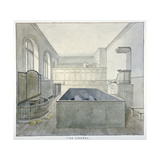 Interior View of the Chapel in Newgate Prison, Old Bailey, City of London, 1840 Giclee Print by Frederick Nash