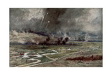 The Attack on the German Positions North of the Aisne, 16th April 1917 Giclee Print by Francois Flameng