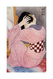 A Japanese Woman Dressing Her Hair, 1920S Giclee Print by Hashiguchi Goyo