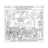The Meeting of the (Roya) Zoological Society, Hanover Square, London, 1885 Giclee Print by Harry Furniss