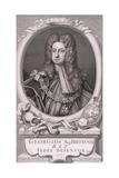 Oval Portrait of George I, King of Great Britain, 1718 Giclee Print by George Vertue