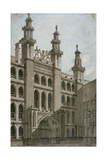 South-West View of the Guildhall Front, City of London, 1810 Giclee Print by George Shepherd