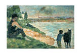 Study for Une Baignade, 1883 Giclee Print by Georges Seurat