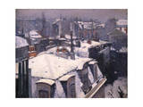 Snow on Roofs, 1878 Giclee Print by Gustave Caillebotte