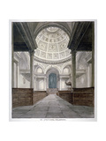 Church of St Stephen Walbrook, City of London, C1840 Giclee Print by Frederick Nash