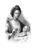Queen Charlotte (1744-181) with the Future King George IV (1762-183), 19th Century Giclee Print by Henry Adlard