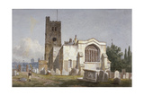 Church of St Mary at Lambeth, London, C1810 Giclee Print by George Shepherd