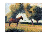 The Harnessed Horse, 1883 Giclee Print by Georges Seurat