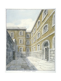 The Chapel Yard in Newgate Prison, Old Bailey, Newgate Prison, Old Bailey, City of London, 1840 Giclee Print by Frederick Nash