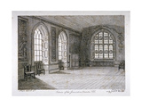 Interior View of the Jerusalem Chamber in Westminster Abbey, London, 1805 Giclee Print by Frederick Nash