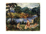 Women at the River, 19th or Early 20th Century Giclee Print by Gustave Colin