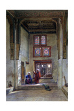Reception Room, Memlook Radnau Bey's House, Cairo, 1873 Giclee Print by Frank Dillon