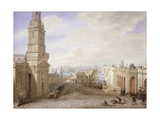 Old and New London Bridges Looking South, London, 1831 Giclee Print by George Scharf