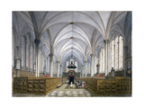 Interior View of Temple Church, London, 1811 Giclee Print by George Shepherd
