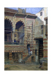 Courtyard in the House of Sheikh Sadat, Cairo, 1873 Giclee Print by Frank Dillon