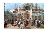The Feast of Ascension in the Piazza San Marco, C1775 Giclee Print by Francesco Guardi
