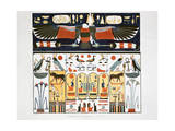 Mural from the Tombs of the Kings at Thebes, 1820 Giclee Print by Giovanni Battista Belzoni
