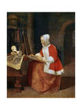 A Woman Seated Drawing, C1649-1667 Giclee Print by Gabriel Metsu
