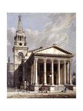 St George, Bloomsbury, Holborn, London, 1811 Giclee Print by George Shepherd