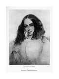 Elizabeth Barrett Browning, English Poet of the Victorian Era, Mid-19th Century Giclee Print by Field Talfourd