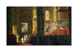 The Coronation of the Empress Maria Feodorovna on 5th April 1797, 19th Century Giclée-Druck von Horace Vernet