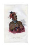 Meach-O-Shin-Gaw, the Little White Bear, a Konza Warrior, 1848 Giclee Print by  Harris