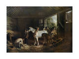 The Inside of the Stable, 1791 Giclee Print by George Morland