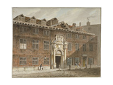 West Front of Blackwell Hall, King Street, City of London, 1811 Giclee Print by George Shepherd