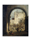 View of a Square and a Palace, Between 1775 and 1780 Giclee Print by Francesco Guardi