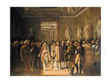 Napoleon Receiving at the Louvre the Deputies of the Army.., 8 December 1804, 1808 Giclee Print by Gioacchino Giuseppe Serangeli