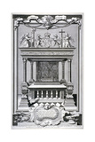 Monument to King Edward VI, Chapel of Henry VII, Westminster Abbey, London, C1740 Giclée-Druck von George Vertue