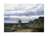 Landscape with a Mill, C1783-1843 Giclee Print by Georges Michel