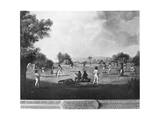 A Cricket Match, 18th Century Giclee Print by George Morland