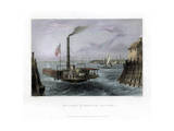 The Ferry at Brooklyn, New York, USA, 1838 Giclee Print by George Richardson