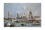 View of the Santa Maria Della Salute Church, 18th Century Giclee Print by Francesco Guardi